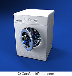 washing machine open door - fine 3d image of classic washing...