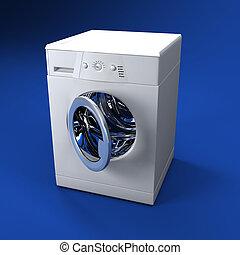 washing machine open door - fine 3d image of classic washing...