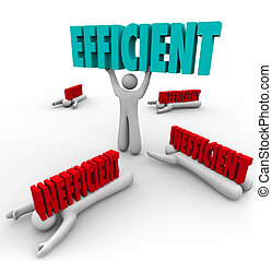 Efficient Vs Inefficient Words Man Lifting Word Others...