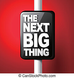 The next big thing coming soon announcement 3d illustration