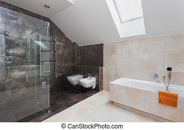 cuarto de baño, ducha, baño