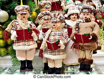 Christmas Carolers decoration - A group of Christmas...