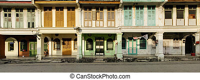 Heritage Houses In Sunlight, George Town, Penang, Malaysia