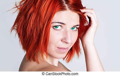 Hair Care - Woman.%u0421reative style hair coloring.Hair...