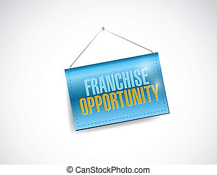 franchise opportunity hanging banner illustration design...