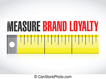 measure brand loyalty concept illustration design over a...