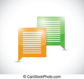 colorful message bubbles. communication concept.
