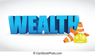 wealth under construction sign illustration