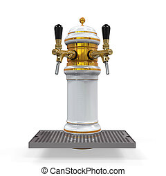 Beer Tap Isolated - Beer Tap isolated on white background....