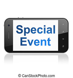 Business concept: Special Event on smartphone - Business...