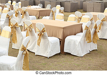 tables set for meal