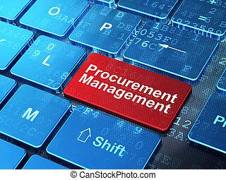 Business concept: Procurement Management on computer...