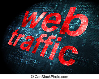 SEO web design concept: Web Traffic on digital background -...