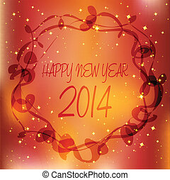 happy new year 2014 over luxury background
