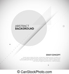 Gray abstract 3D background. Geometric design