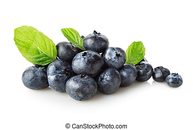 Useful blueberries isolated on a white background