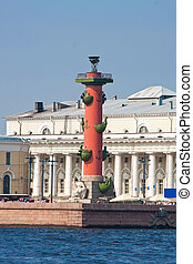 Saint Petersburg - Rostral Columns on Vasilevsky Island,...