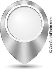 Metal round 3D map pointer
