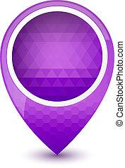 Purple round 3D map pointer