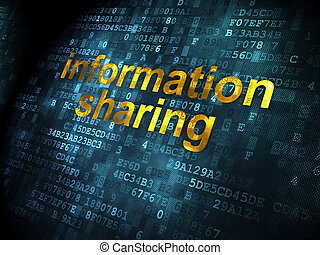 Data concept: Information Sharing on digital background -...