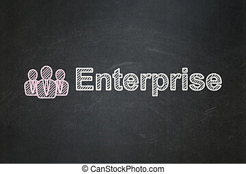 Business concept: Business People and Enterprise on...