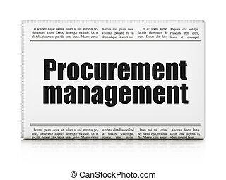 Business concept: newspaper headline Procurement Management...