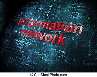 Data concept: Information Network on digital background -...