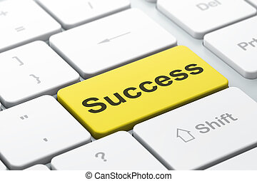 Business concept: Success on computer keyboard background -...