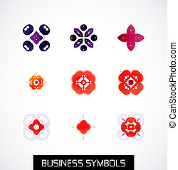Modern abstract geometric business icons. Icon set