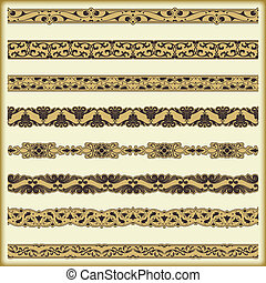 Vintage border set for design - The vector image Vintage...