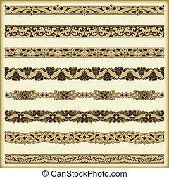 Vintage border set for design - The vector image Vintage...
