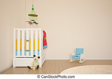 Kids play room with bed