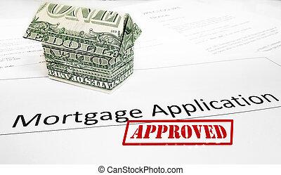 aprobación,  App, hipoteca