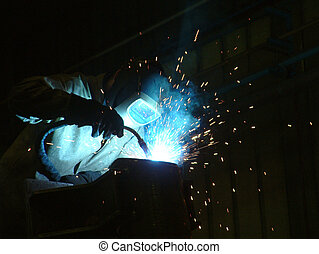 Welding - Welder at work
