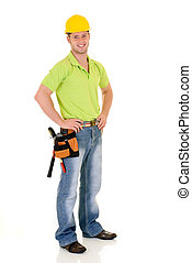 Supervisor construction - Handsome young successful...