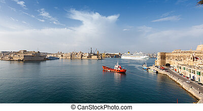 View from the lower Baccarra Garden,Valletta, Malta Grand...