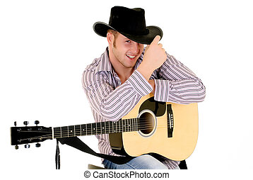 Country and Western singer - Handsome young male country...