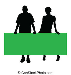 couple color silhouette vector illustration