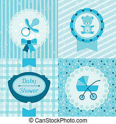 Boy baby shower invitation cards.