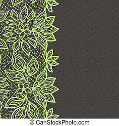 Vintage lace background, abstract ornament Vector texture
