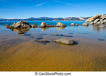 Lake Tahoe - Big rocks in Lake Tahoe