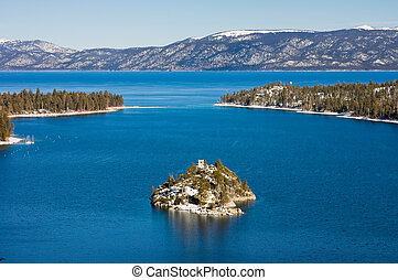 Lake Tahoe - Emerald Bay in the winter, Lake Tahoe