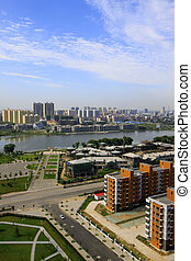 city building architecture in northern China - city building...