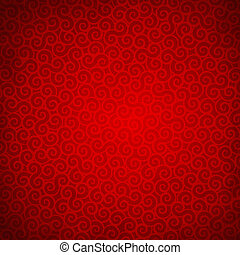Red background - Vector illustration of beautiful red...
