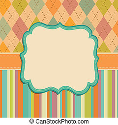 Invitation Card Background, Border Frame Patterns - Vector...