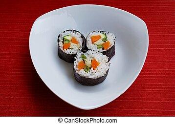 Vegetarian sushi maki rolls - Vegetarian maki sushi rolls...