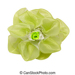 barrette hair green flower isolated clipping - barrette hair...