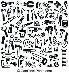 working tools - doodles