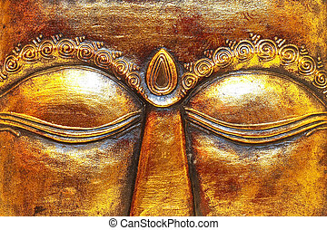 Eyes - Close up shot of golden Shiva eyes