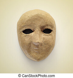 papier-mache mask - picture of a papier-mache mask on a...